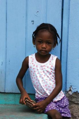 Un enfant de Sainte Lucie.